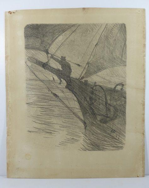 No Technical Toulouse-Lautrec -  Oceano Nox. 1895. 1er état. Numérotée.