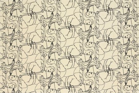 Lithograph Dheedene - Octopus - White