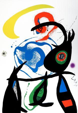 Lithograph Miró - Oda a Joan Mirò