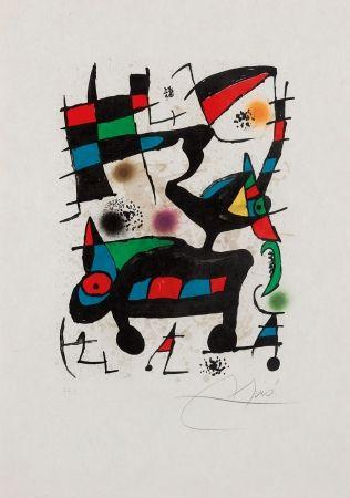 Lithograph Miró - Oda a Joan Miro
