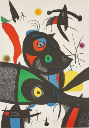 Lithograph Miró - Oda Joan MIRO