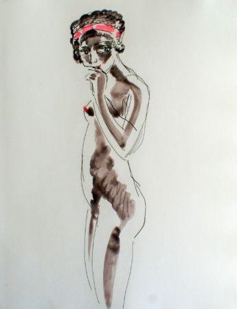 Engraving Van Dongen - Odalisque Africaine standing