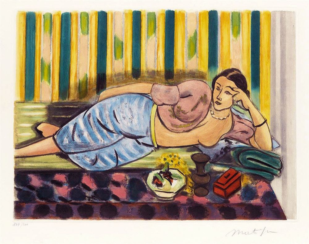Aquatint Matisse - Odalisque au Coffret Rouge (Odalisque with Red Box)