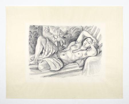 Lithograph Matisse - Odalisque Au Magnolia