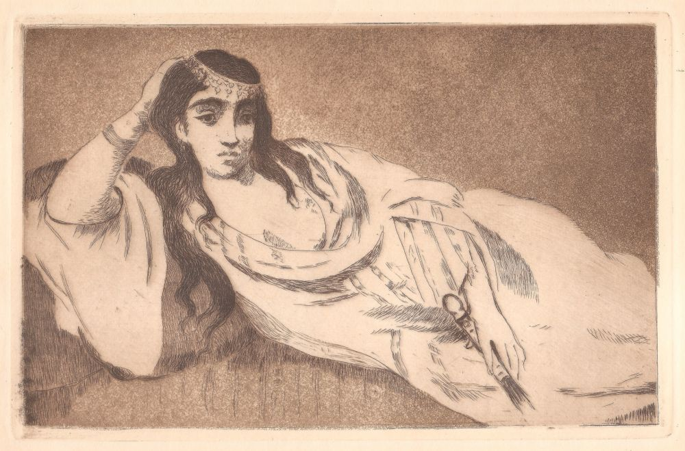 Etching And Aquatint Manet - Odalisque (L'odalisque couchée)