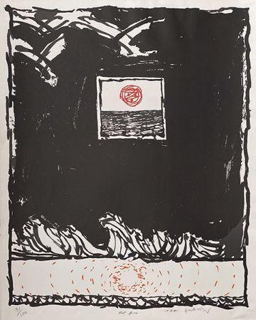Lithograph Alechinsky - Oeil fixe
