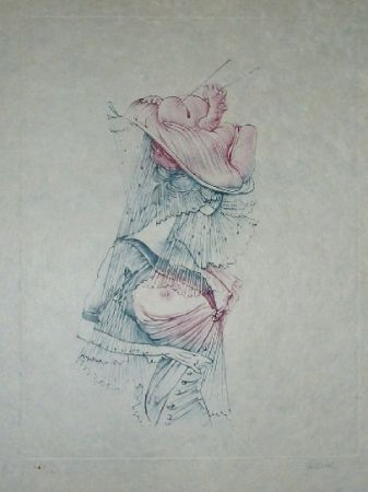Etching And Aquatint Bellmer - Oeillades ciselées 5