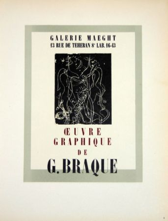 Lithograph Braque - Oeuvre Graphique  Galerie Maeght
