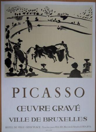 Lithograph Picasso - Oeuvre Gravé - Bruxelles 1973