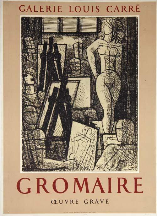 Poster Gromaire - Oeuvre Gravé Galerie Louis Carré