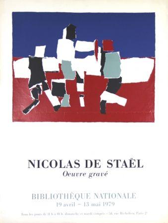 Screenprint De Stael - Oeuvre Gravée   Bibliothéque Nationale