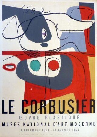 Lithograph Le Corbusier - Oeuvre Plaastique, Musée National D'art  Moderne De La Ville De Paris
