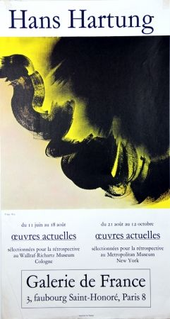 Lithograph Hartung - Oeuvres Graphiques