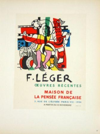 Lithograph Leger - Oeuvres Récentes  Maison de la Pensée Française