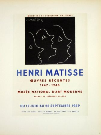 Lithograph Matisse - Oeuvres Recentes Musée D'Art Moderne