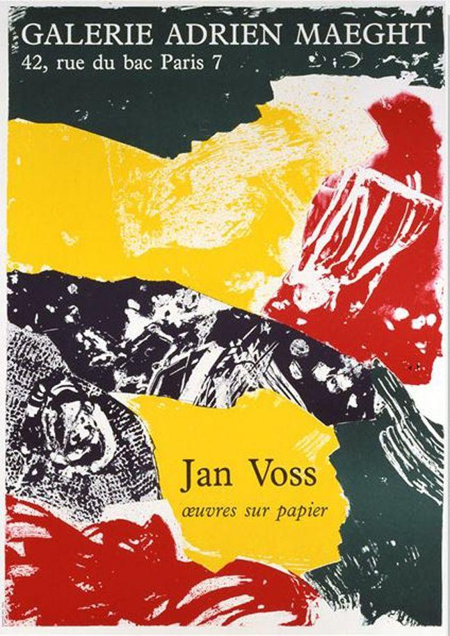 Lithograph Voss - '' Oeuvres sur Papier ''