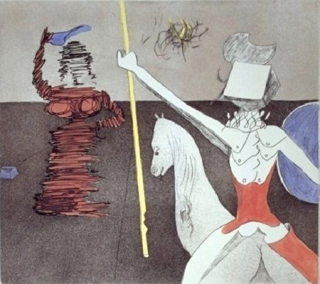 Etching And Aquatint Dali - Off the Battle