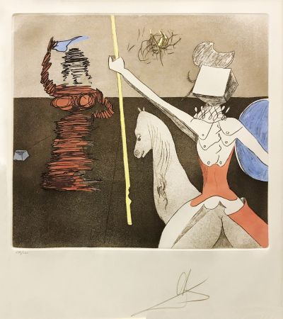 Etching And Aquatint Dali - OFF TO BATTLE