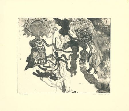 Etching And Aquatint Paul - Oh Oh Ladie Madonna I Love You [sic]