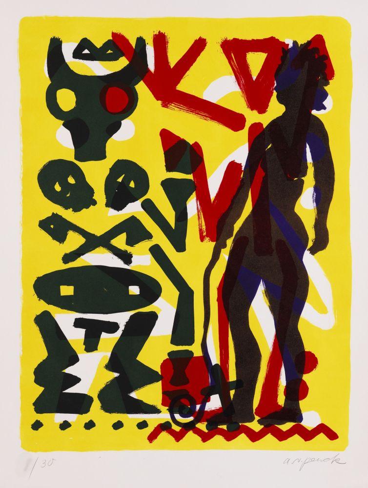 Lithograph Penck - Ohne Titel