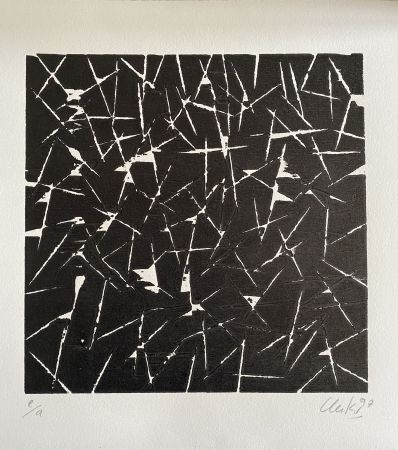 Woodcut Uecker - Ohne Titel