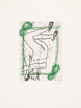 Etching And Aquatint Baselitz - Ohne Titel
