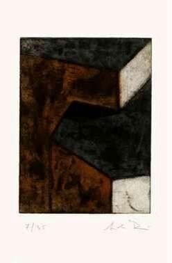 Engraving Rein - Ohne Titel (braun, grün, hell)