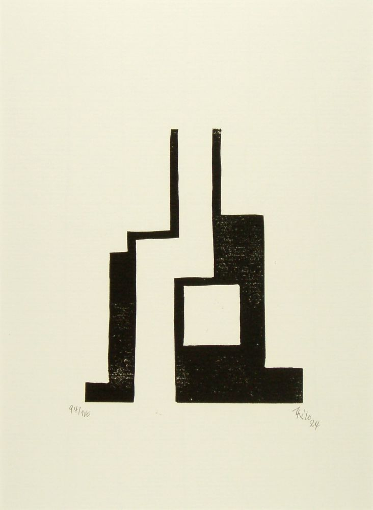 Woodcut Maatsch - Ohne Titel (No Title)