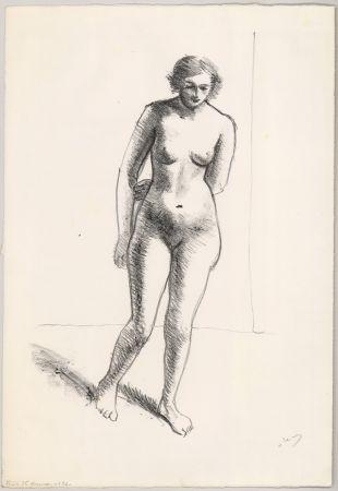 Lithograph Derain - Ohne Titel (Nu, le bras replié derrière le dos)