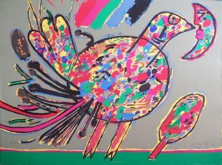Lithograph Corneille - Oiseau
