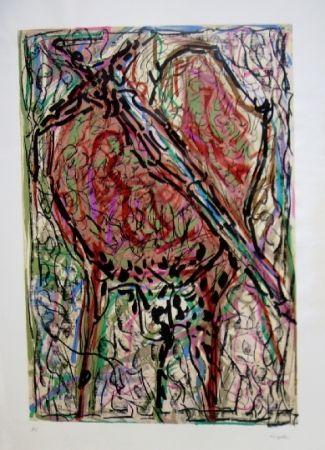 Lithograph Riopelle - Oiseau