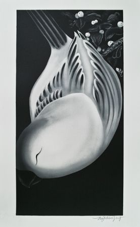 Lithograph Tongzhengang - Oiseau2