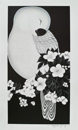 Lithograph Tongzhengang - Oiseau 3