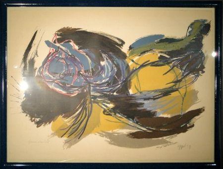Lithograph Appel - Oiseau de l'aube