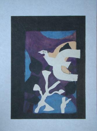 Lithograph Braque - Oiseau et Lotus. Avant La Lettre