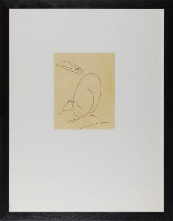Engraving Ernst - Oiseau mére