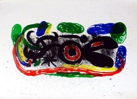 Lithograph Miró - Oiseau mangeant du feu