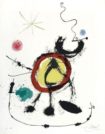 Lithograph Miró - Oiseau migrateur (Migratory Birds)