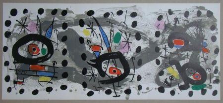 Lithograph Miró - Oiseau solaire, oiseau lunaire, étincelles