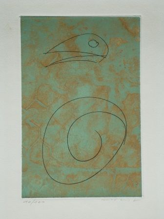 Etching And Aquatint Ernst - Oiseau vert