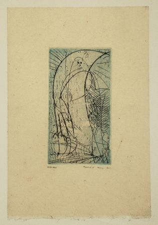 Etching And Aquatint Ernst - Oiseau vierge