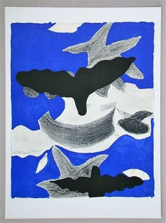 Lithograph Braque (After) - Oiseaux