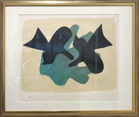 Lithograph Braque - Oiseaux