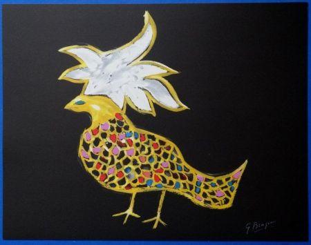 Lithograph Braque - Oiseaux de Feu Phoenix