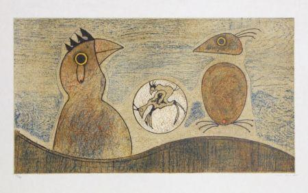 Lithograph Ernst - Oiseaux Souterrains