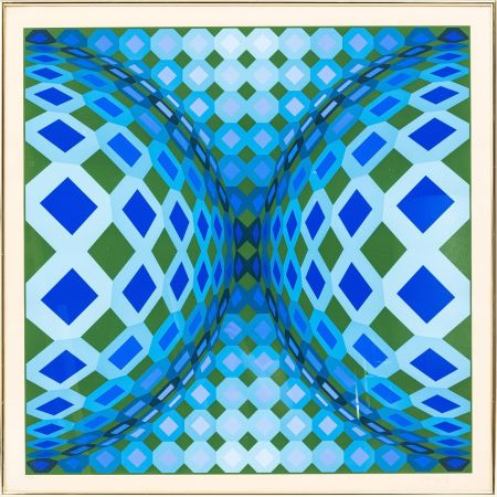 Lithograph Vasarely - OKTA - CHEYT