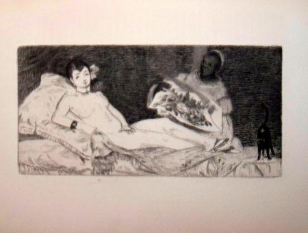 Engraving Manet - Olympia