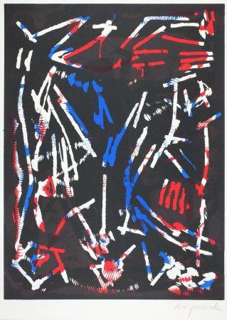 Woodcut Penck - Olympia