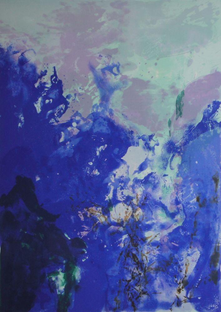 Lithograph Zao - Olympic Centennial