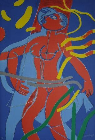 Lithograph Corneille - Olympic Centennial